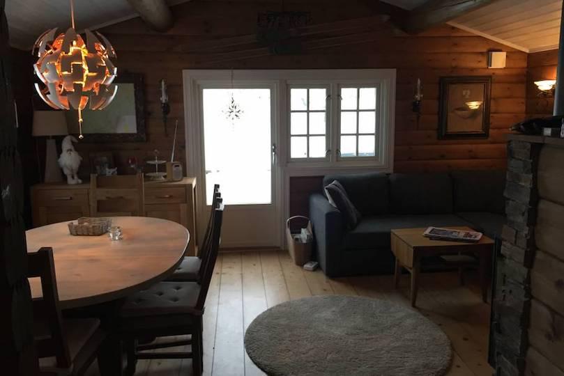 Unwind in Spring Cottony Snow in a Norwegian Cabin