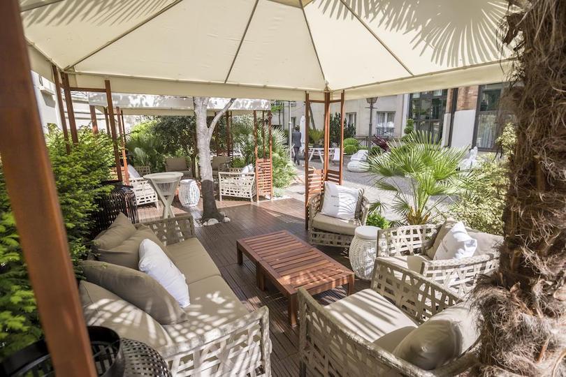 Les Jardins du Marais : la terrasse parfaite pour un déjeuner avec les enfants