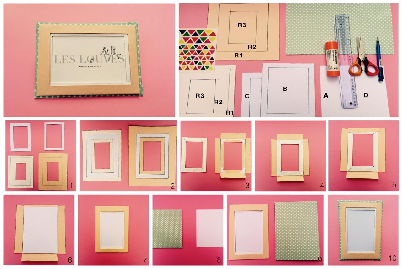 diy pour les enfants cadre fantaisie d s 4 ans les louves. Black Bedroom Furniture Sets. Home Design Ideas