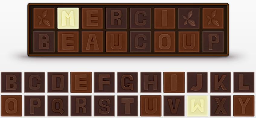 Les chocolats personnalisés de Deneuville