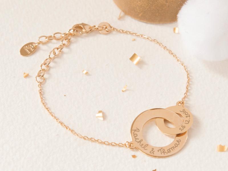 Merci Maman - Bracelet anneaux entrelaces-cadeau-noel