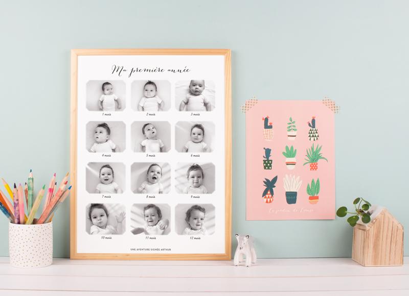 Affiches, cartes et faire-part: jolie papeterie pour célébrer une naissance