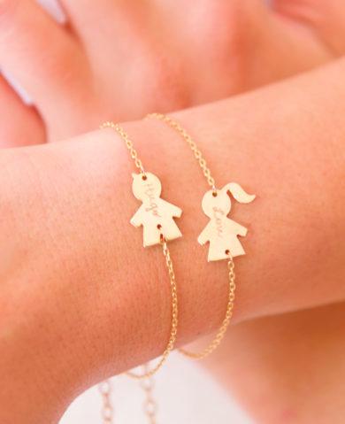 bracelet personnalisé Merci Maman