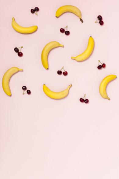 Crumble banane cerise