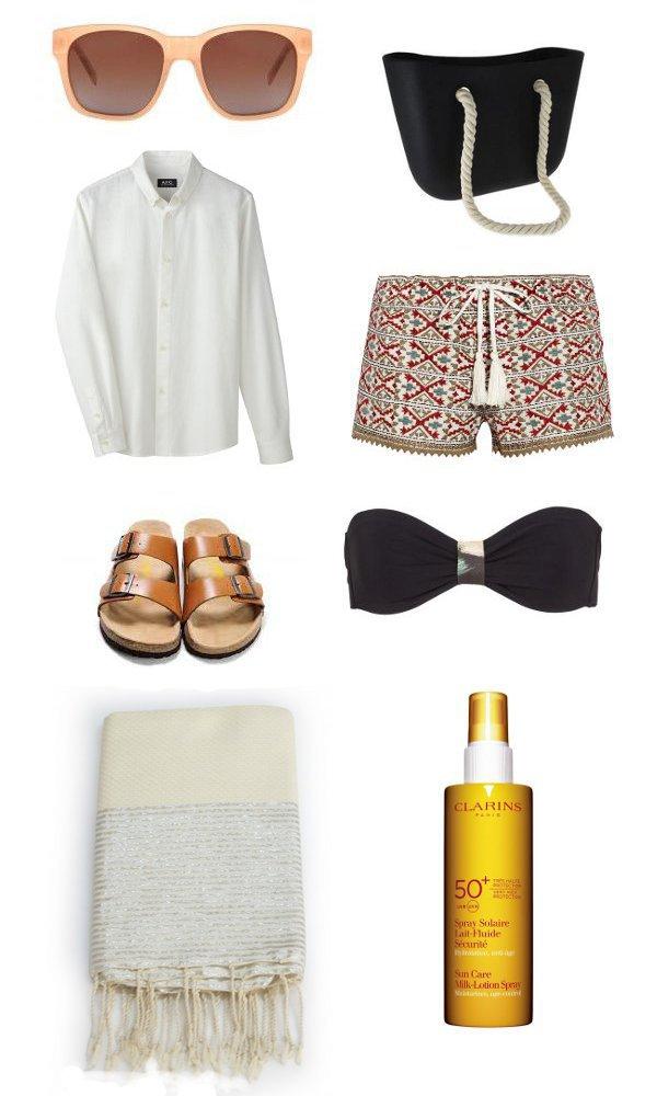 tenue de plage boyish et chic pour mothers to be les louves. Black Bedroom Furniture Sets. Home Design Ideas