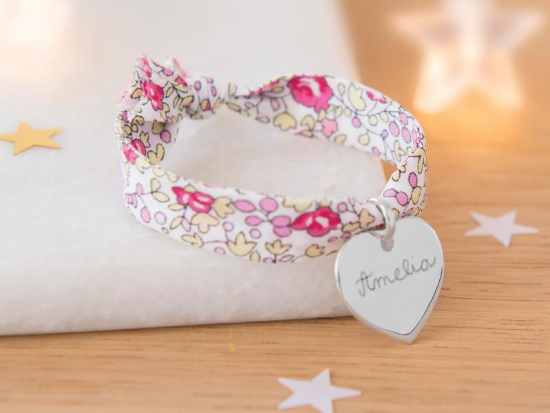 Merci Maman - Bracelet liberty argent-cadeau-noel-enfant