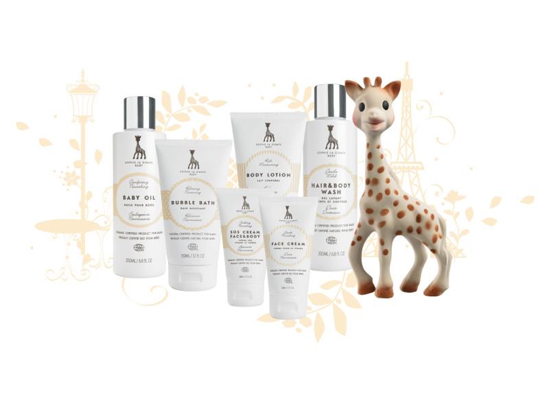 Sophie la girafe Cosmetics: les soins naturels pour bébés venus de Finlande