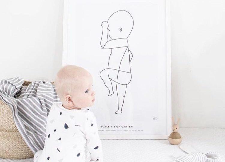 Cadeaux de naissance: offrez une belle affiche personnalisée